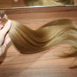 Festett sötétszőke 8as európai haj 50cm 130db (8)