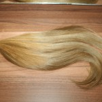 Festett sötétszőke 8as európai haj 50cm 130db (9)