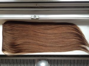Világos 7es barna 50cm dús prémium európai csatos póthaj