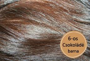 európai csokoládé barna póthaj 6os - közelről