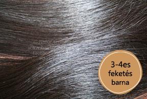 európai feketés barna póthaj 3-4es - közelről