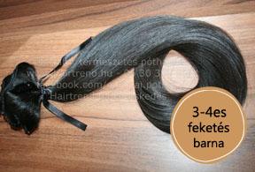 európai feketés barna póthaj 3-4es